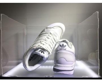 Weiß Adidas Originals Zx700 Leather G62110 Schuhe Unisex