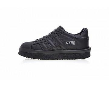 Schuhe Unisex Schwarz & Weiß Rick Owens X Adidas Mastodon Pro Model Low Ba9762