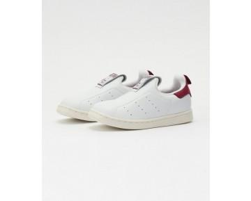 Weiß & Schwarz Unisex Schuhe Adidas Stan Smith Slip On Kid S75223