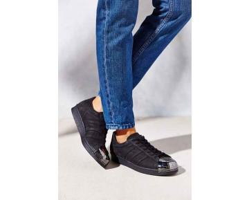Schwarz & Silber Schuhe Unisex Adidas Originals Superstar 80S Metal Toe M25318