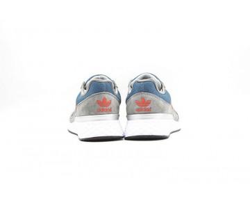 Schuhe Adidas Zx 450 S63894 Grau & Orange Rot Herren