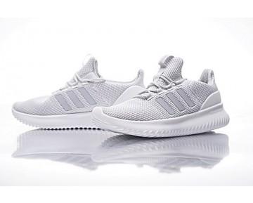 Herren Licht Grau & Weiß Adidas Neo Cloudfoam Ultimate Neo Bc0061 Schuhe