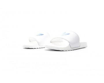 Weiß & Blau Unisex Adidas Originals Adilette Sandal Boost