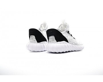 Herren Schuhe Weiß & Schwarz Adidas Tubular Doom Sock Low S74925
