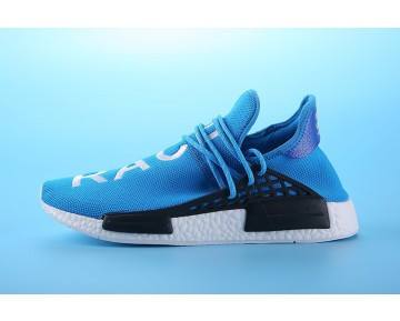 Unisex Royal Blau & Weiß Schuhe Pharrell Williams X Adidas Nmd Human Race S79169