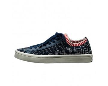 Adidas Courtvantage Primeknit S78886 Schuhe Herren Marine Blau