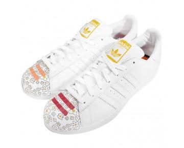 Unisex Schuhe Artwork Flowers Pharell Ftwr Weiß Adidas Originals Superstar Mr. Supershell S83368