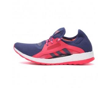 Shock Blau/Halo Blau/Shock Rosa Schuhe Damen New Adidas Pure Boost X Aq6680